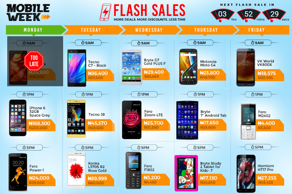 Jumia Mobile Week Flash Sales
