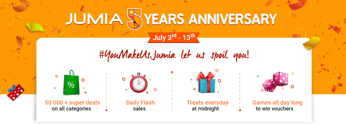 Jumia 5 Years Anniversary Sales